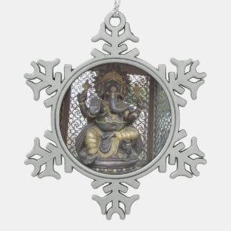 Aum Ganesha Snowflake Ornament