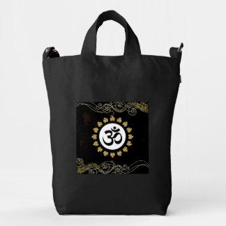 Aum Hindu Sacred Sound Symbol Black Gold Duck Bag