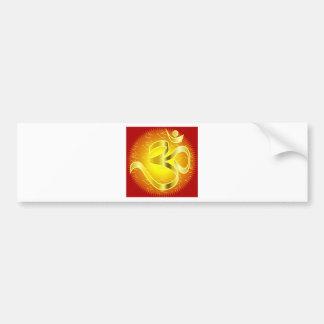 Aum o símbolo de OM en amarillos y rojos Pegatina De Parachoque