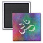 Aum - Om 2 Inch Square Magnet