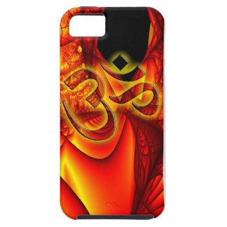 Aum OM en el fractal rojo y amarillo iPhone 5 Coberturas