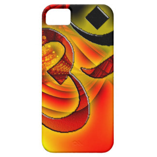 Aum OM en el fractal rojo y amarillo iPhone 5 Cobertura