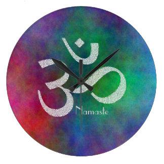 Aum Om Symbol Large Clock