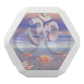 Aum - om upon waterlilies - 3D render White Bluetooth Speaker