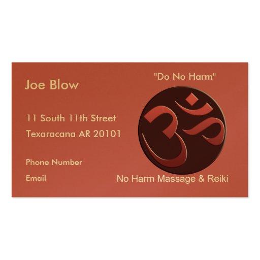 Aum or Om Symbol in mauve Business Card Templates