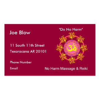 Aum or Om Symbol in yellows & pinks Business Card