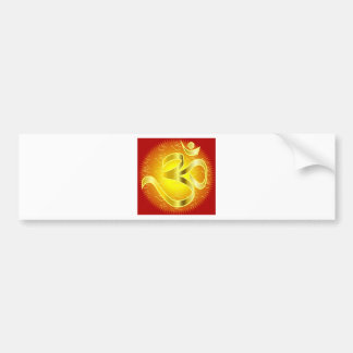 Aum or Om Symbol in yellows & reds Car Bumper Sticker