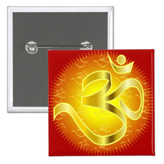 Aum or Om Symbol in yellows & reds Pins