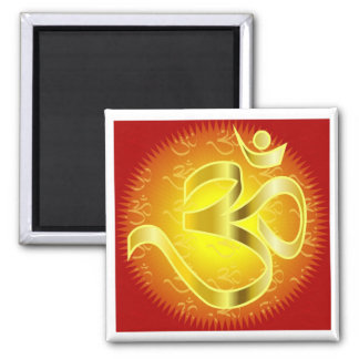 Aum or Om Symbol in yellows & reds Magnet