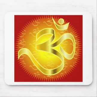 Aum or Om Symbol in yellows & reds Mouse Pad