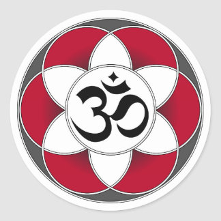 Aum Seed of Life Red Sticker