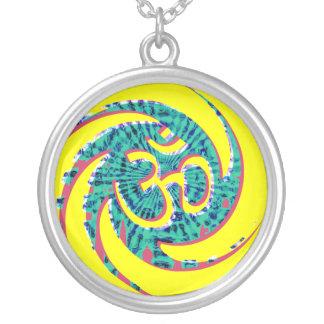 Aum Swirl Silver Necklace