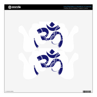 Aum Symbo (Deep Blue Color, minimalist) Skins For PS3 Controllers