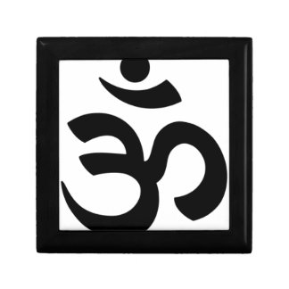 Aum Symbol (Black, Simple, Minimal) Gift Box