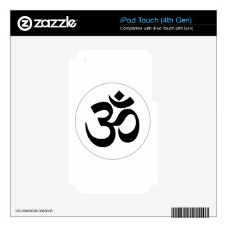 Aum Symbol (Black with Silver Ring) iPod Touch 4G Skin