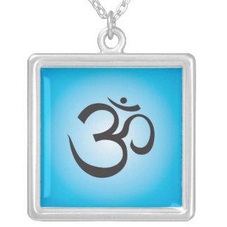 Aum Symbol Necklace - blue