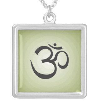 Aum Symbol Necklace - Green