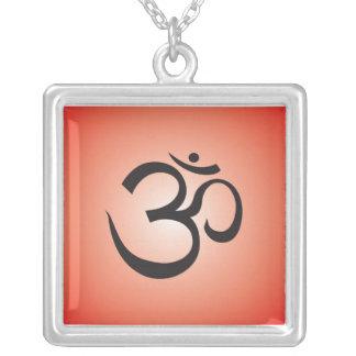 Aum Symbol Necklace - Red