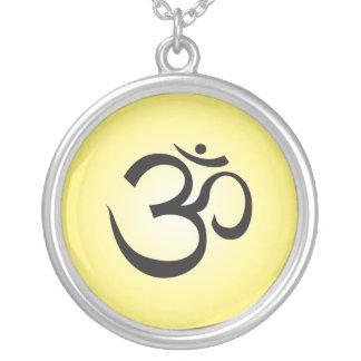 Aum Symbol Necklace - Yellow