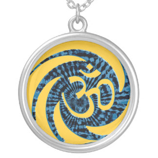 Aum  Tie-Dye Swirl Necklace