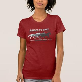 Aumentado a la raza reciclada para montar Standard Camisetas