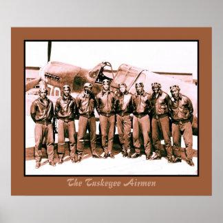 (aumentado) los aviadores de Tuskegee Póster