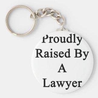 Aumentado orgulloso por un abogado llavero redondo tipo pin