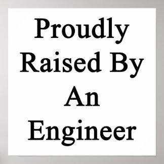 Aumentado orgulloso por un ingeniero póster