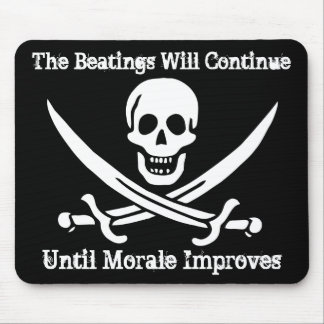Aumentador de presión de moral del pirata tapetes de raton