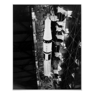 Aumentador de presión de Saturn 1B para el proyect Poster