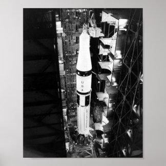 Aumentador de presión de Saturn 1B para el proyect Póster