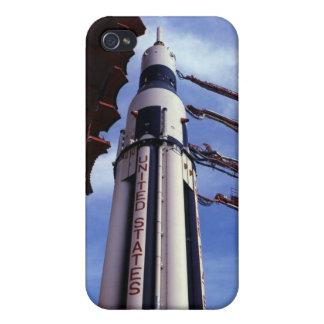 Aumentador de presión del vuelo de la NASA Saturn  iPhone 4/4S Fundas