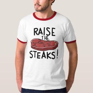 ¡Aumente los filetes! Remeras
