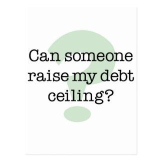 Aumente mi techo de deuda postal
