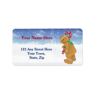 Aumente navidad el pequeño de un bastón etiqueta de dirección