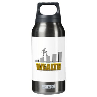 Aumente su proceso de la riqueza o de negocio botella isotérmica de agua