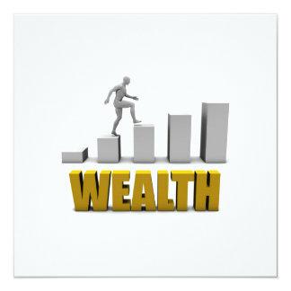 """Aumente su proceso de la riqueza o de negocio invitación 5.25"""" x 5.25"""""""