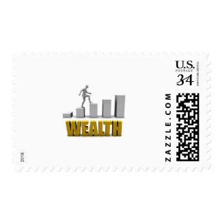 Aumente su proceso de la riqueza o de negocio sello postal