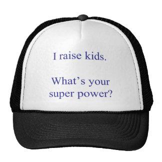 Aumento a niños. ¿Cuál es su superpoder? Gorra