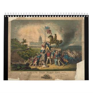 Aumento bandera de mayo de 1861 de Louis N. Rosent Calendario