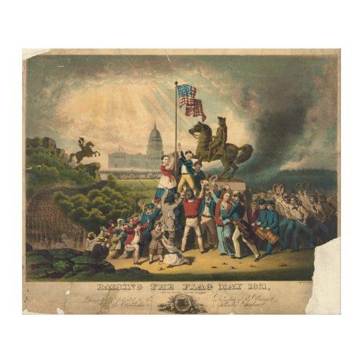 Aumento bandera de mayo de 1861 de Louis N. Rosent Lona Estirada Galerías