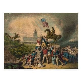 Aumento bandera de mayo de 1861 de Louis N. Tarjetas Postales