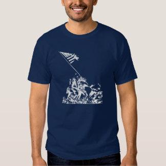 Aumento de la bandera de WWII Iwo Jima, blanco Camisas