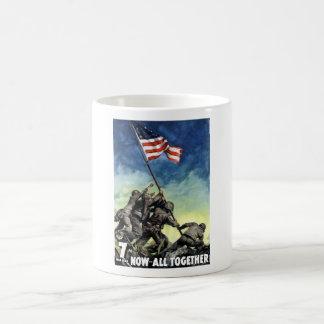 Aumento de la bandera en Iwo Jima Taza