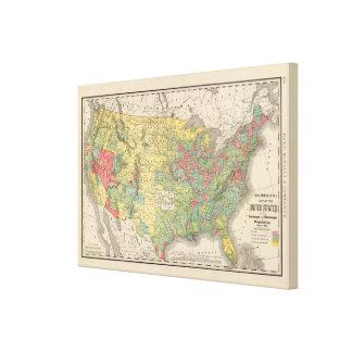 Aumento de población de Estados Unidos, 1880-1890 Lienzo Envuelto Para Galerias