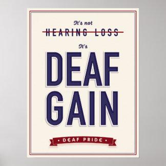 Aumento sordo. poster