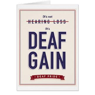 Aumento sordo. tarjeta de felicitación