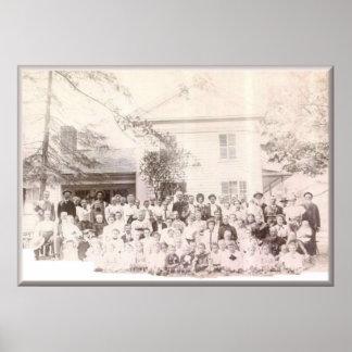 Aumentos de la reunión 1908 de Mattison, PA Póster