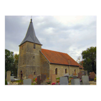 Aumont, village church postcard