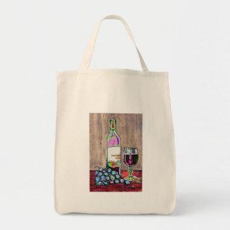 Aún arte moderno de la vida del vino y de la bolsa